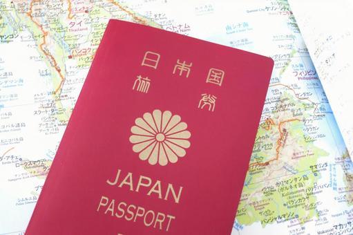 World map and passport 3