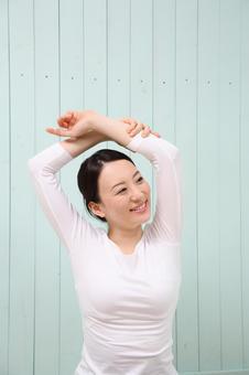 Women stretching 12