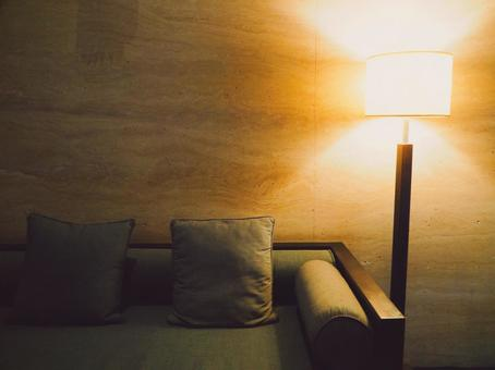 Relax with indirect lighting and sofa Home time