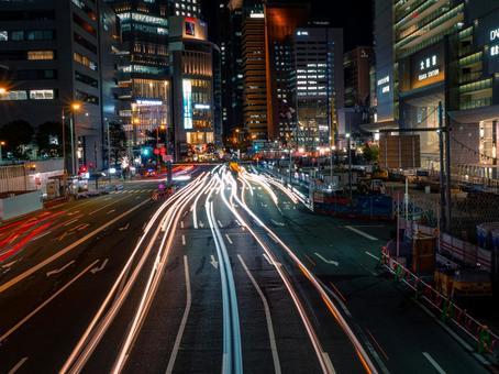 오사카 역의 야경