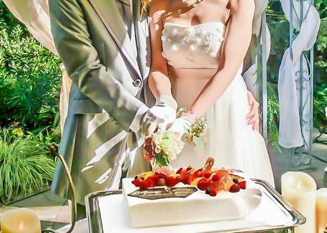 Wedding cake entrance 1