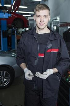 Automobile mechanic with tool 3