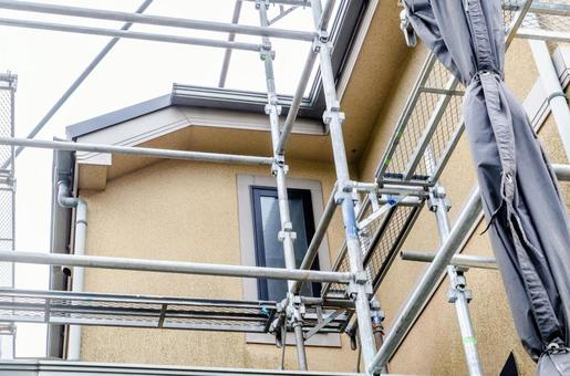 Scaffolding for exterior work