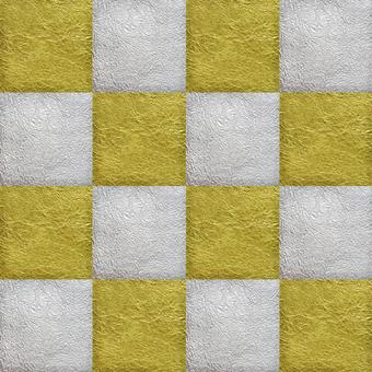 Japanese paper gold silver checkered