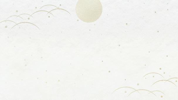 秋季背景材料滿月露水草皮(白底)