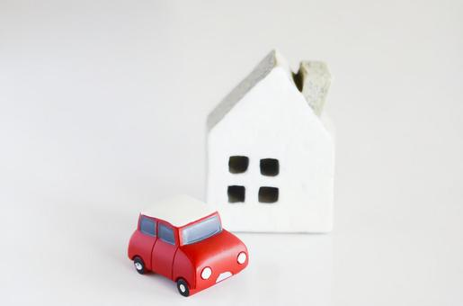 Miniature cars and houses