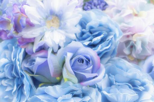 Fluffy Blue Flower Bouquet 1