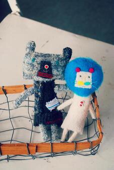 熊和狮子的毛绒玩具
