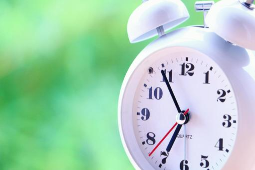 Green and alarm clock