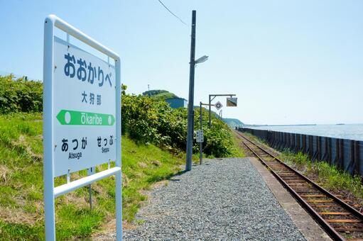 The sea is in front of me. Okubarbe station of the waste line.