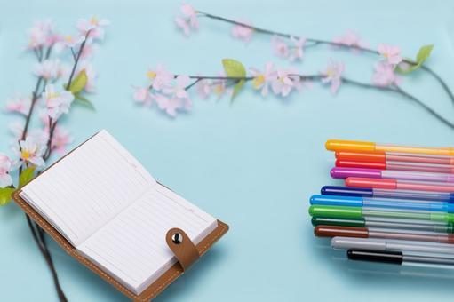 벚꽃의 계절과 문구