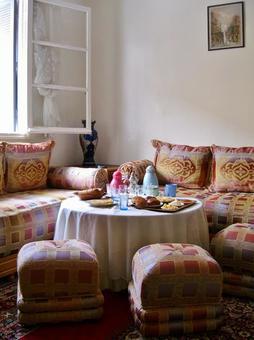 Moroccan private house breakfast
