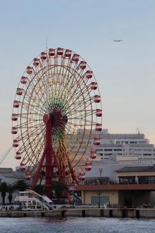 Ferris wheel and plane