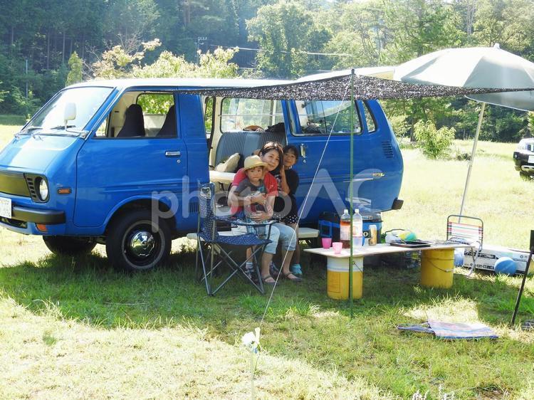飯地高原テント村でキャンプの写真