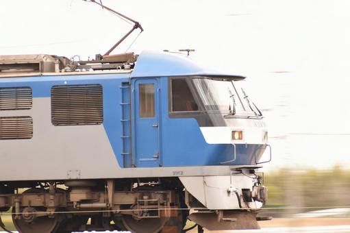 Locomotive running