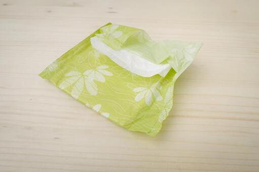 Colorful sanitary napkin 1