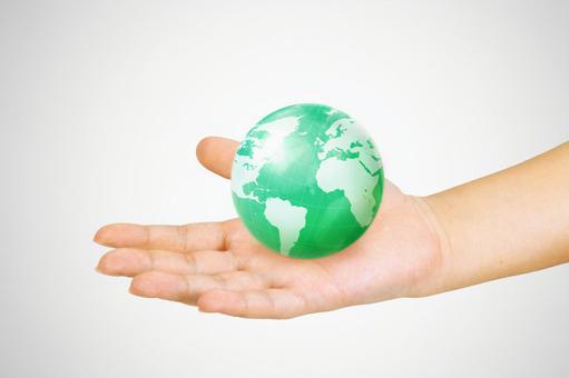 2手与地球