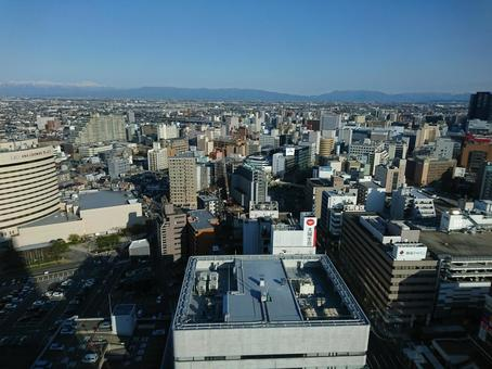 Central Niigata City seen from above
