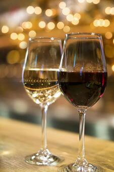White wine and red wine