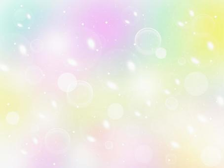 Bubble image on colorful background