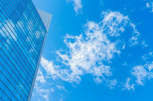 Blue sky and building corporate image