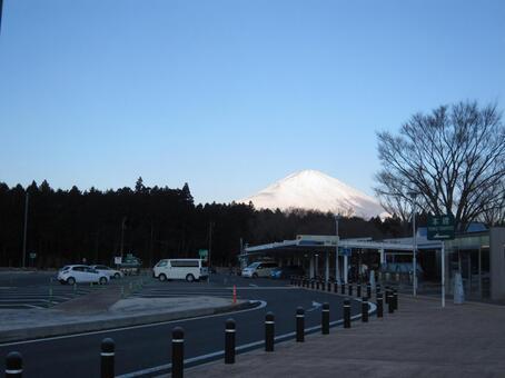 Winter Shizuoka service area