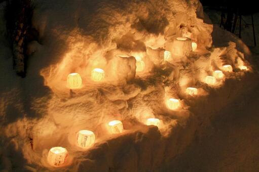 Otaru snow light path