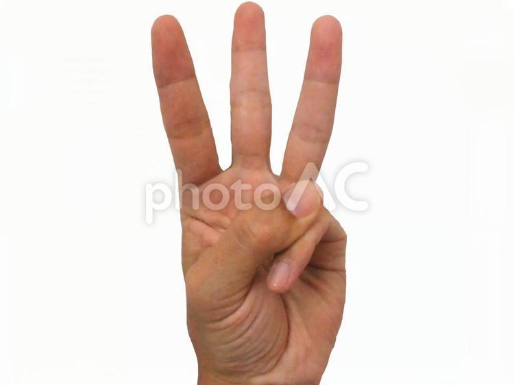 カウントダウンの指1から5の1の写真