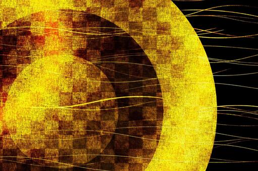 Old gold folding screen image 3