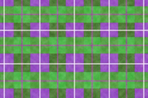 Tartan check_green purple material