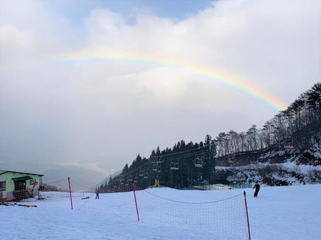 Snowy mountain condition is rainbow 1
