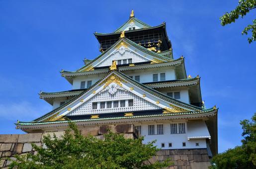 오사카 성 9시