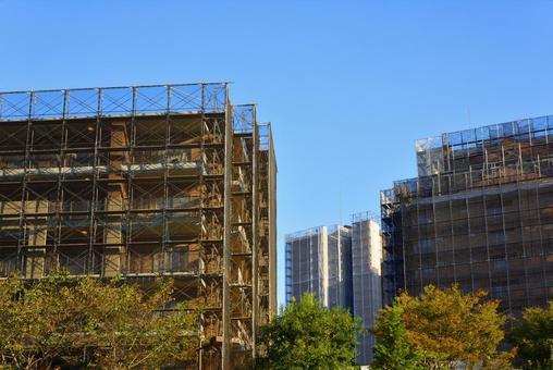 Large-scale condominium repair work