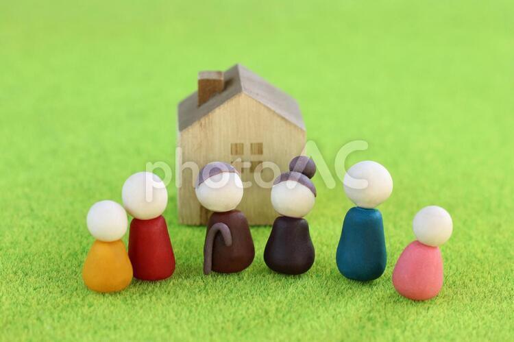 かわいい家族の人形の写真