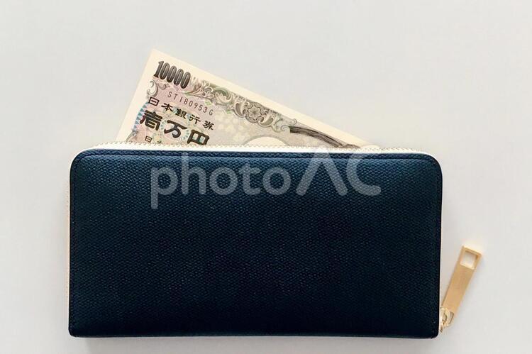 お札と財布の写真