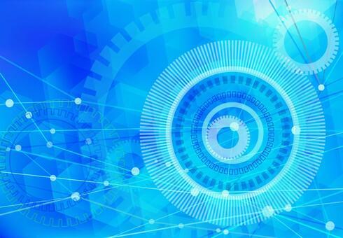하늘색 네트워크 기술 추상 배경 소재