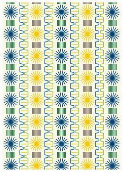 Scandinavian design wool pattern green
