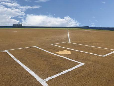 Baseball ground before the game