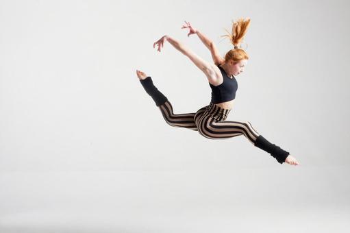 Jumping female dancer 9