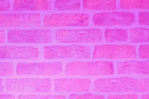 분홍색 벽돌 벽 배경 소재