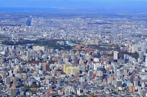Sapporo city area in autumn
