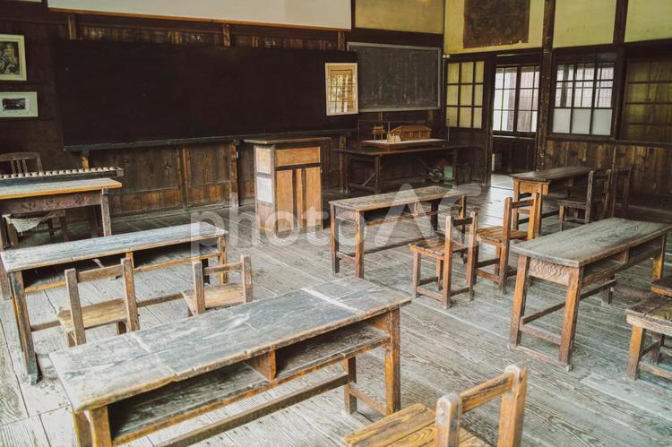 古い教室にての写真