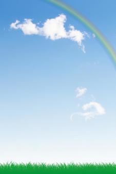 푸른 하늘과 초원 그리고 무지개 06