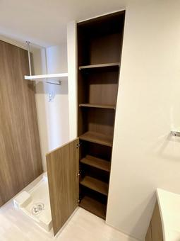 Dressing room in an apartment