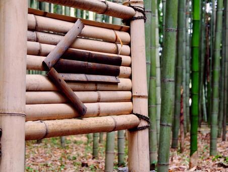 Arrow guide board - bamboo grove