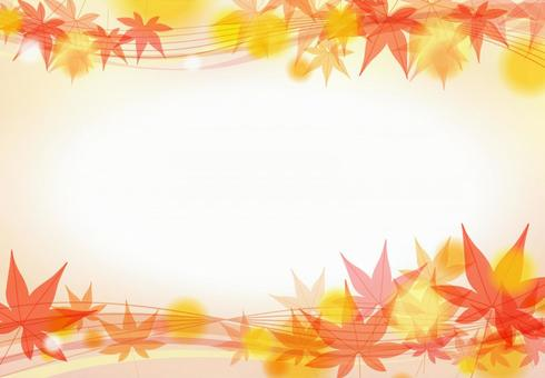 Autumn leaves maple and orange abstract background material