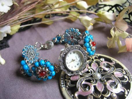 Turquoise breath watch