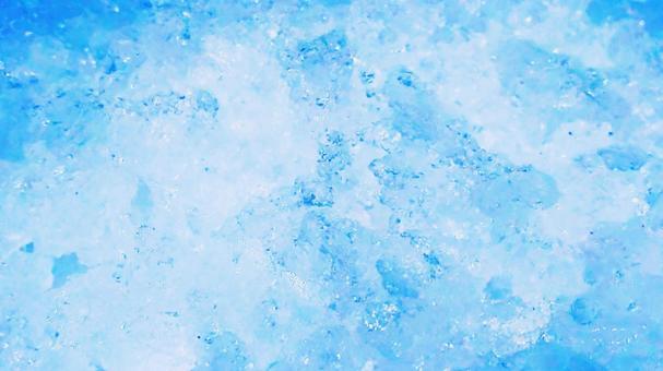 Finely crushed ice background 2 (blue)