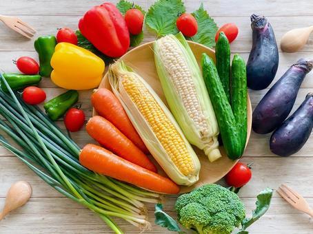 五顏六色的蔬菜