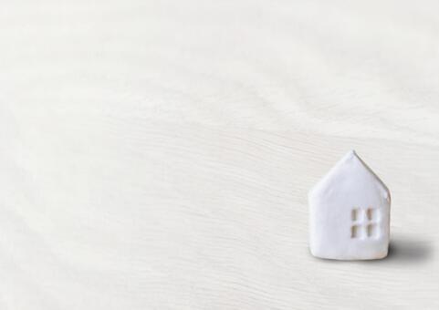 흰 텍스처와 집